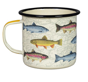 17 oz Enamel Fish Mug