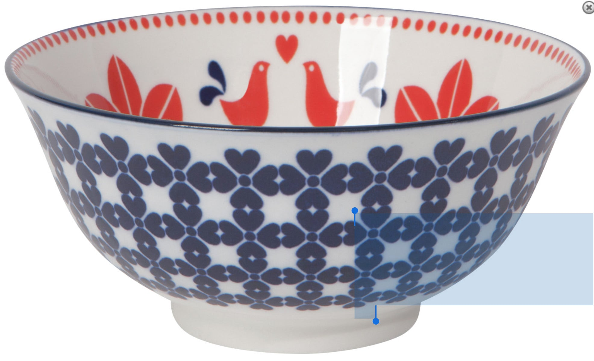 "Red Bird - 6"" Stamped Bowl"