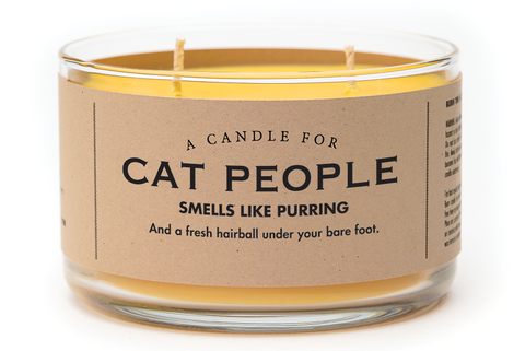 A Double Wick Candle For CAT PEOPLE