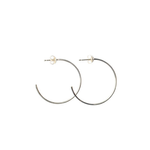 Mimi + Marge Parker Sterling Silver Hoop Earrings