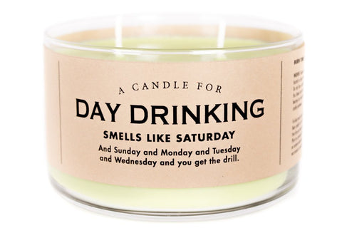 A Double Wick Candle For DAY DRINKING