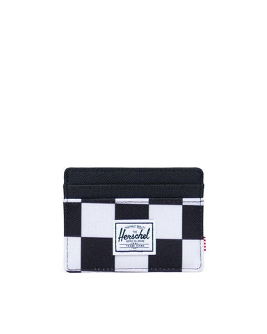 Charlie Cardholder Wallet-CHECKERBOARD/WHITE/BLACK