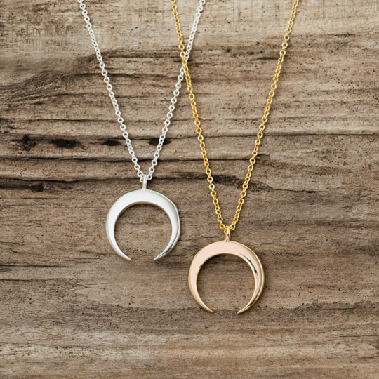 GLEE-Crescent Moon Silver or Gold Necklace
