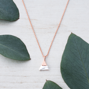 GLEE-Peak Rose Gold Necklace