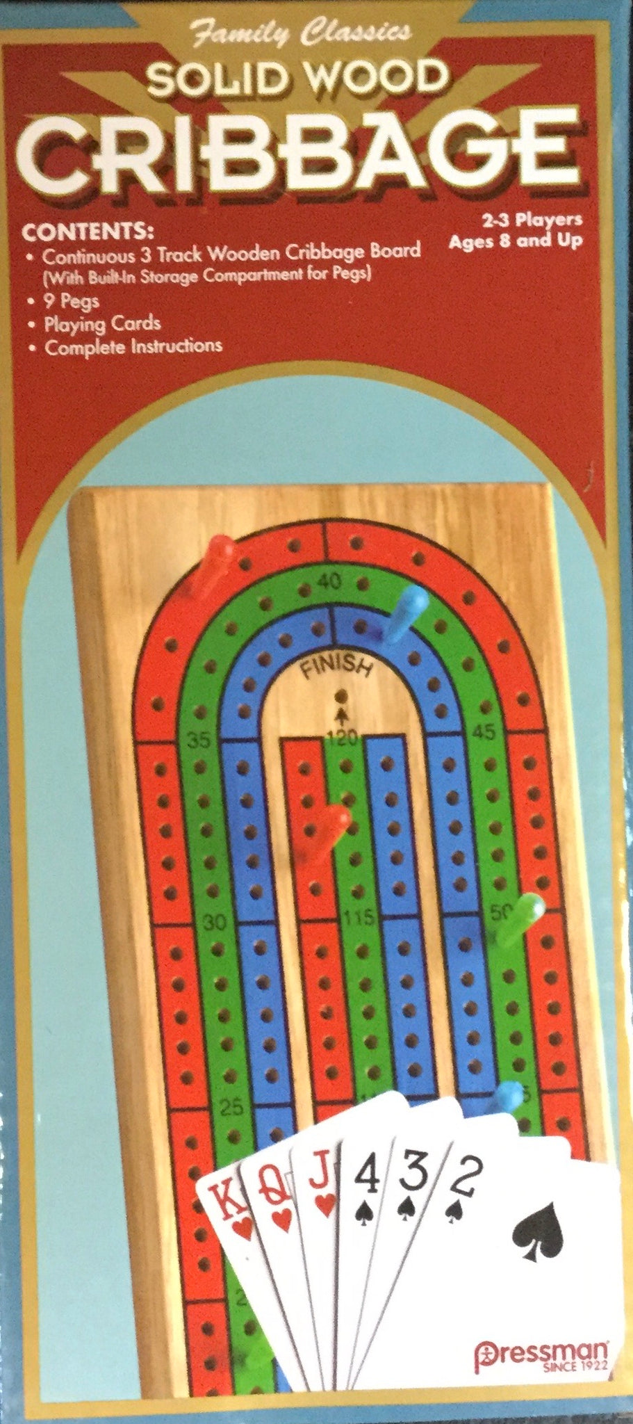 Cribbage Board With Cards