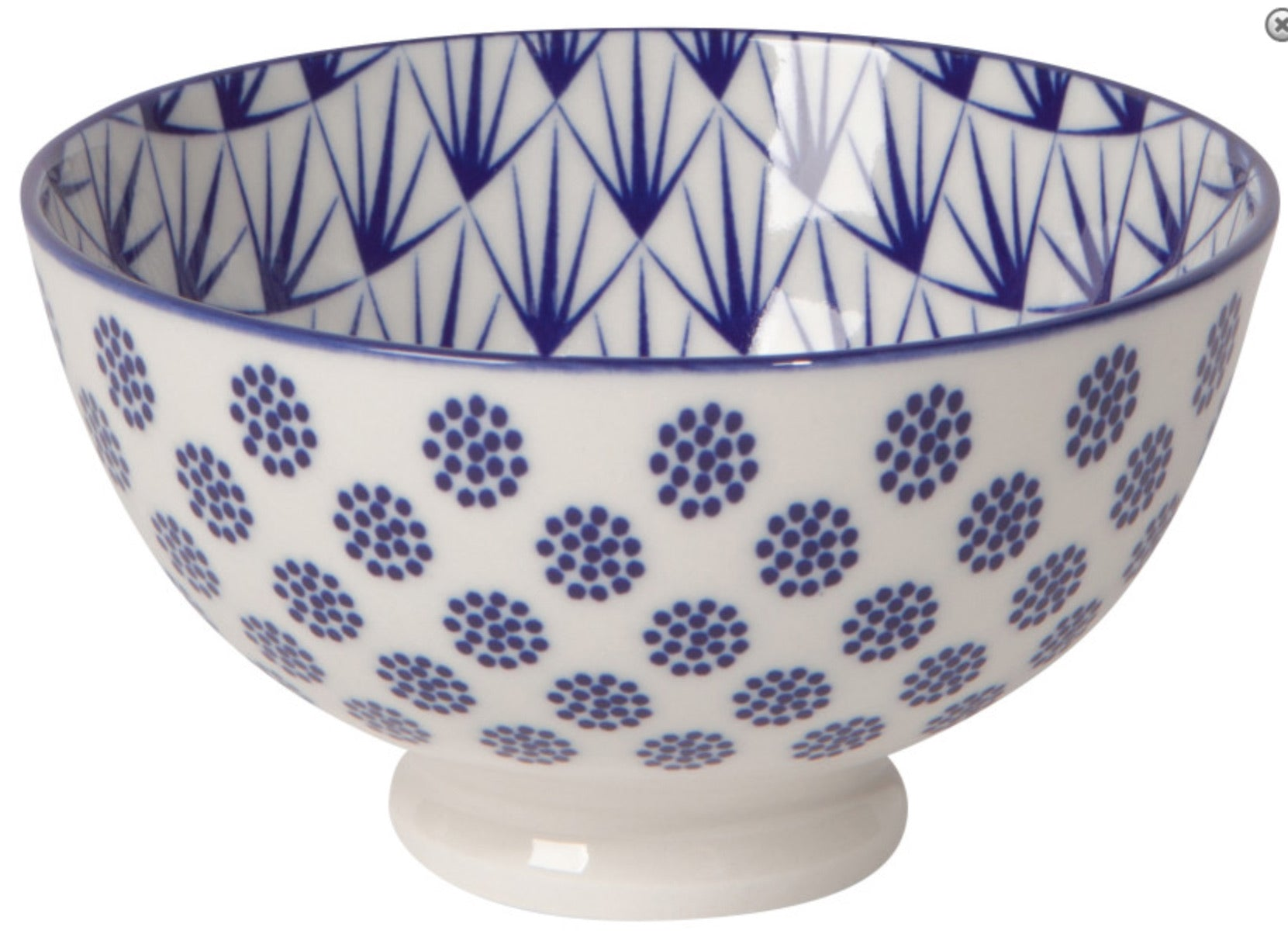 "Blue Dot - 4"" Stamped Bowl"
