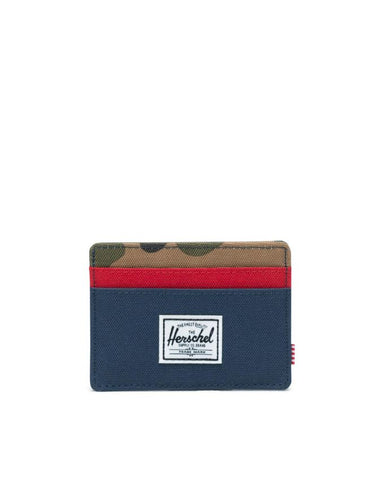 Charlie Cardholder Wallet-NAVY/RED/WOODLAND CAMO