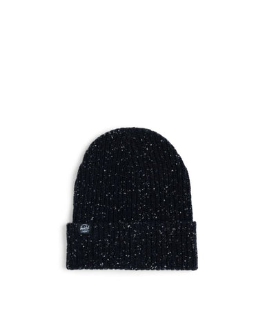 Herschel Quartz Beanie: BLACK DONEGAL