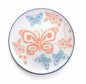 Butterfly First Nations design Art Plate