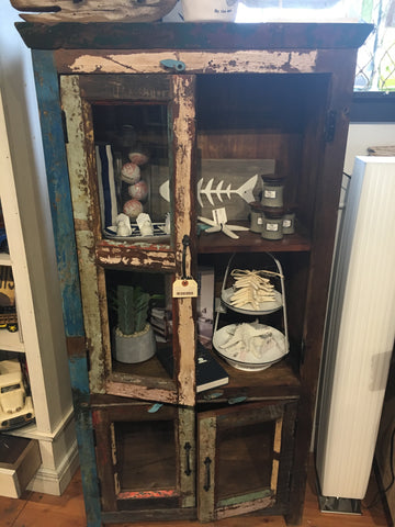 Coloured Antique Wooden Cupboard