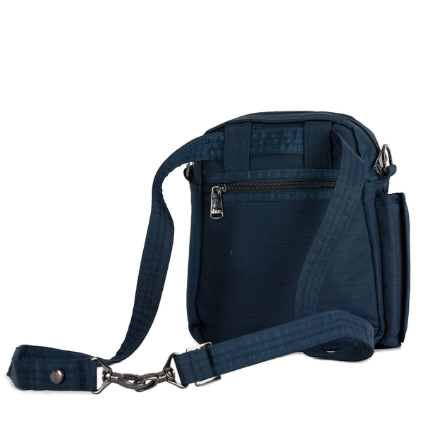 LUG- Flapper Brushed Navy Crossbody Bag