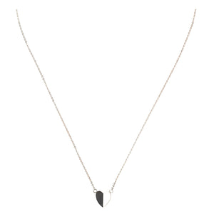 Mimi + Marge Folded Sterling Silver Folded Heart Necklace