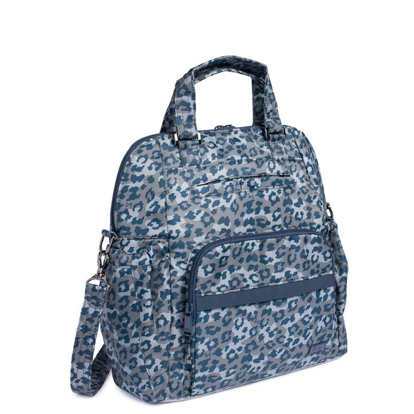 LUG- Canter Leopard Navy Crossbody Travel Tote