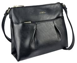 ESPE Sure Black Crossbody Handbag