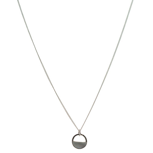 Mimi + Marge Mother of Pearl Shell 1/2 Circle Cutout Necklace