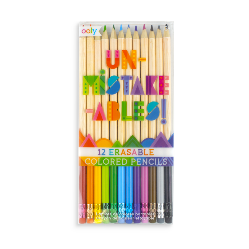 OOLY- Unmistakeables! Erasable Colored Pencils