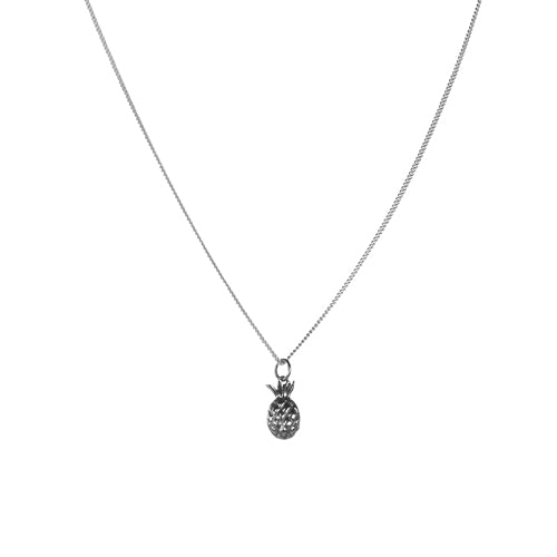 Mimi + Marge Pineapple Sterling Silver Necklace