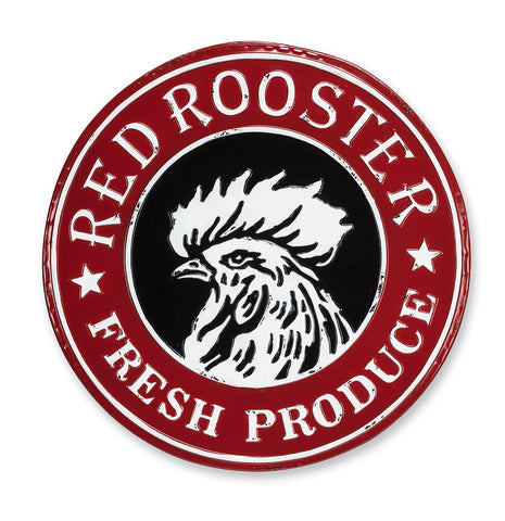 "21"" Red Rooster Sign"