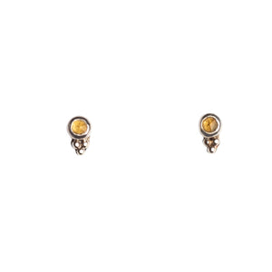 Mimi + Marge Micro Citrine Sterling Silver Stud Earrings