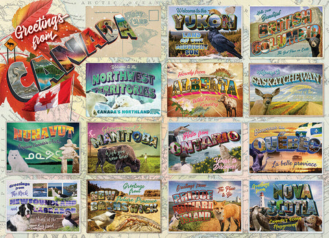 Greetings From Canada Puzzle