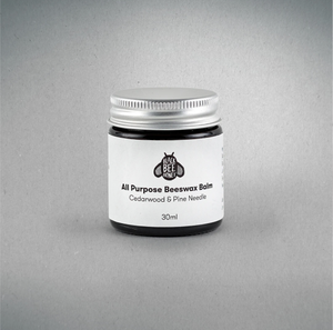 Beeswax Balm (Woody), Black Bee Honey 30ml