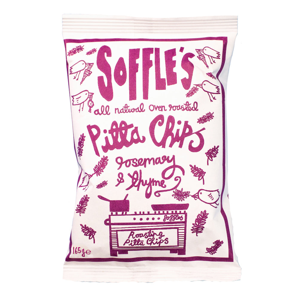Rosemary & Thyme Pitta Chips, Soffle's 165g