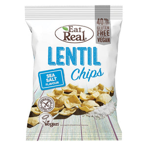Lentil Sea Salt Chips, Eat Real 113g