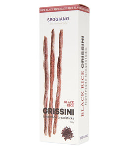 Black Rice Grissini Handmade Breadsticks, Seggiano 150g
