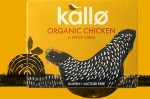 Chicken Stock Cubes Organic 66g, Kallo