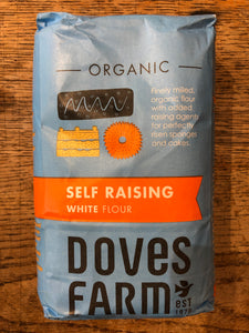 Self Raising White Organic Flour, Doves Farm 1KG