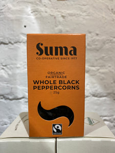 Whole black pepper Organic Fairtrade 25g, Suma