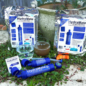 New! HydraMate Water Filter Straws