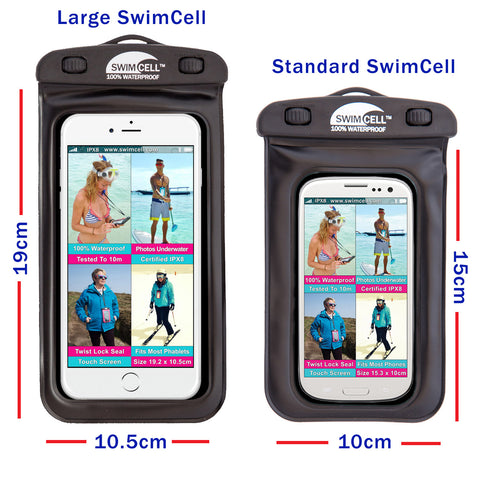 Which SwimCell waterproof case size to choose