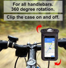 SwimCell Waterproof Bike Case Handlebar Mount
