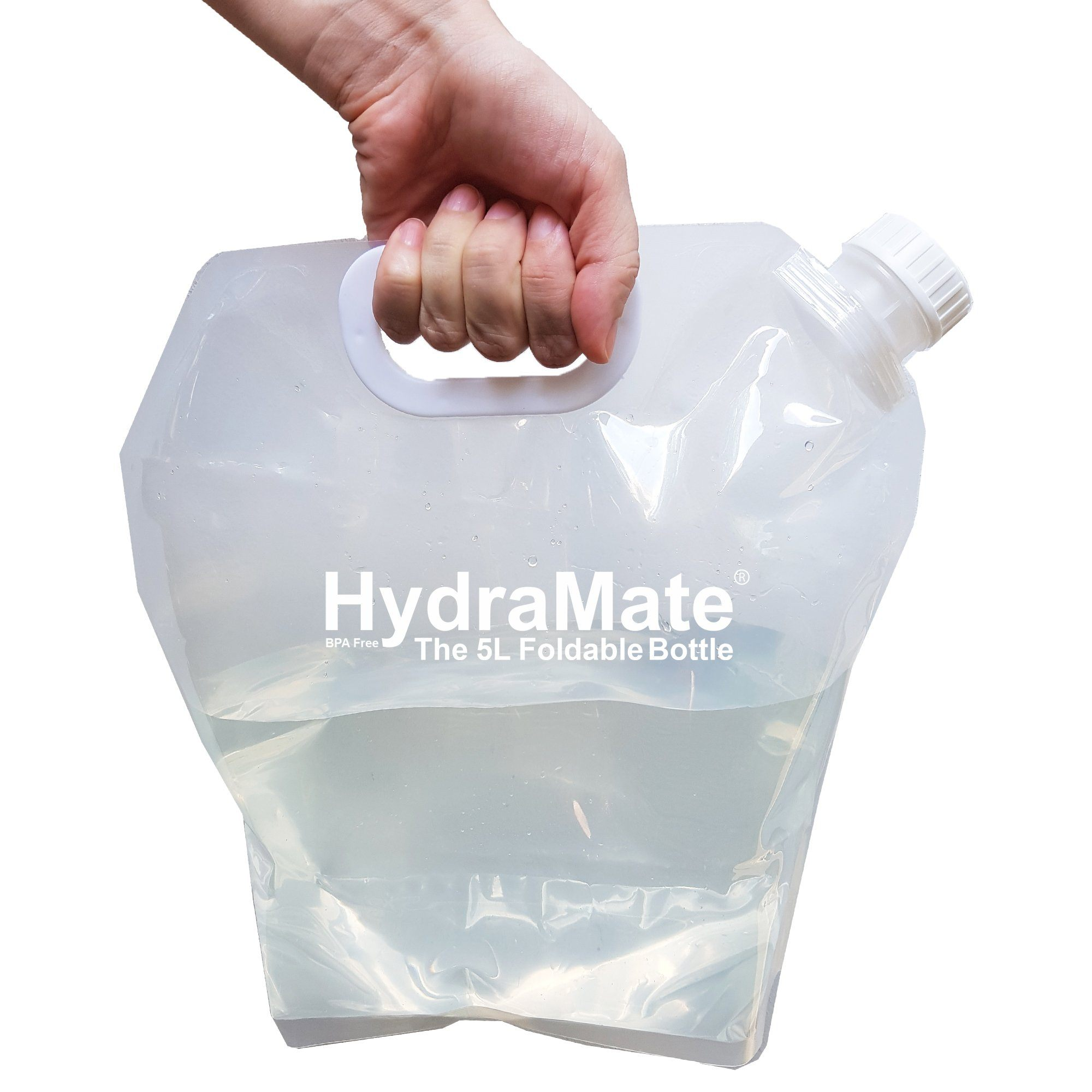 HydraMate 5L Foldable Bottle Pack of 2. BPA Free.