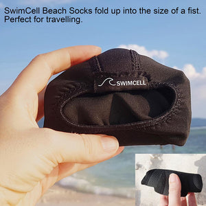 SwimCell Beach Socks Rolled Up Small