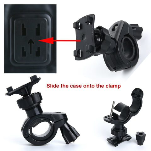 Waterproof phone case bike mount