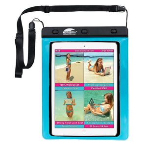 SwimCell Large Tablet waterproof case blue