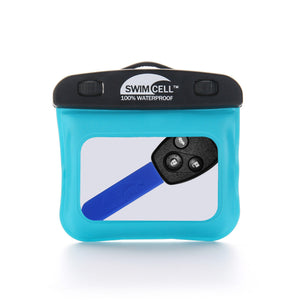 SwimCell silicon key cover on car key in Waterproof Armband Key Case