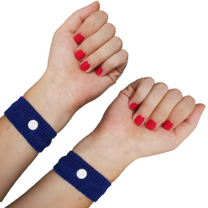 swimcell travel sickness wrist bands blue adults and children