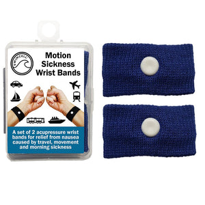 Motion Sickness Wrist Bands For Adults and Children. 2 sizes.