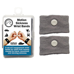 swimcell travel sickness wristbands grey