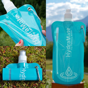 HydraMate Foldable Water Bottle Collapsible Bottle For Travel
