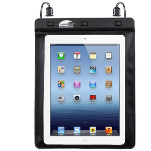 SwimCell Large Tablet waterproof case black with iPad