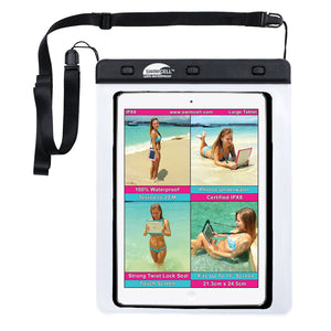 Tablet case white, waterproof