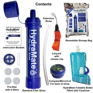 HydraMate Water Filter Straw Kit