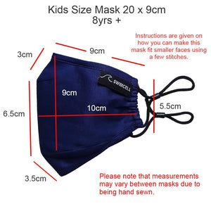 Kids cotton face mask 3 layers triple layer