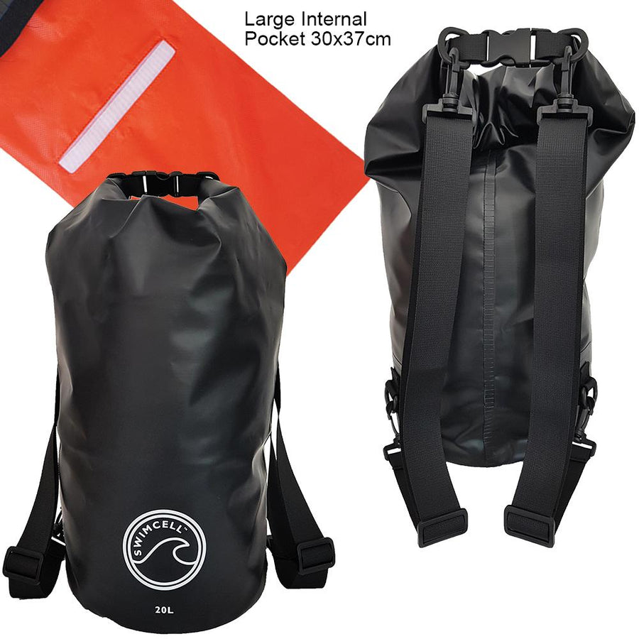 20L Dry Bag Backpack. 2 Adjustable Straps with Internal Pocket.