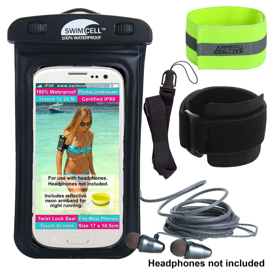 SwimCell 100% Waterproof Case for Phone, Tablet, Money and Keys