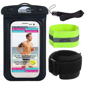 SwimCell 100% Waterproof Phone Case With Armband